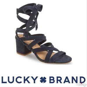 Lucky Brand NIB Idalina Kid Suede Tie Boho Sandal